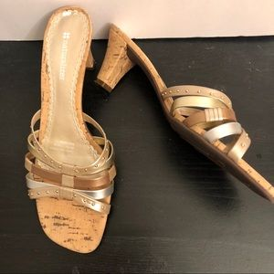 Naturalizer EUC cork  slide on sandals size 7 1/2